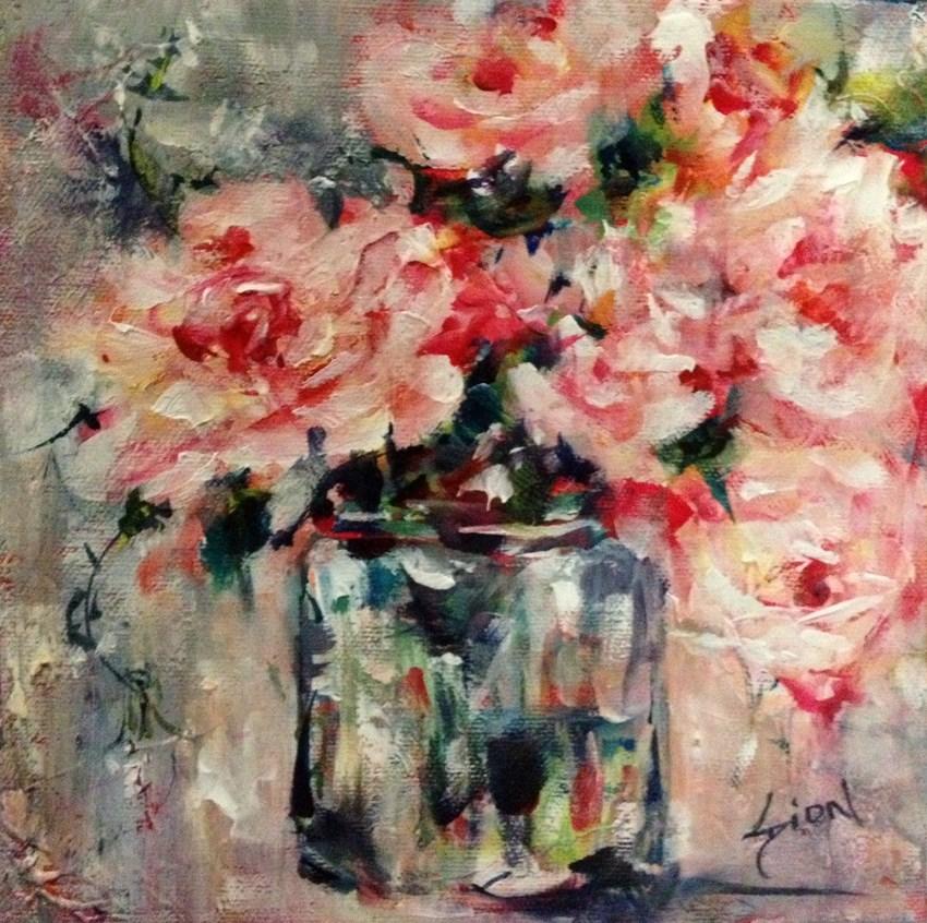 """""""Textured Rose"""" original fine art by Sue Dion"""
