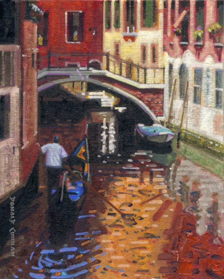 """Venice Canal"" original fine art by Donald Curran"