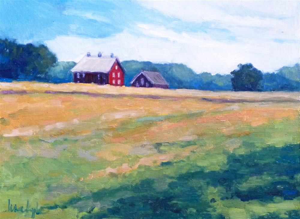 """Codori Barns, viewed from Virginia memorial"" original fine art by Lisa Kyle"
