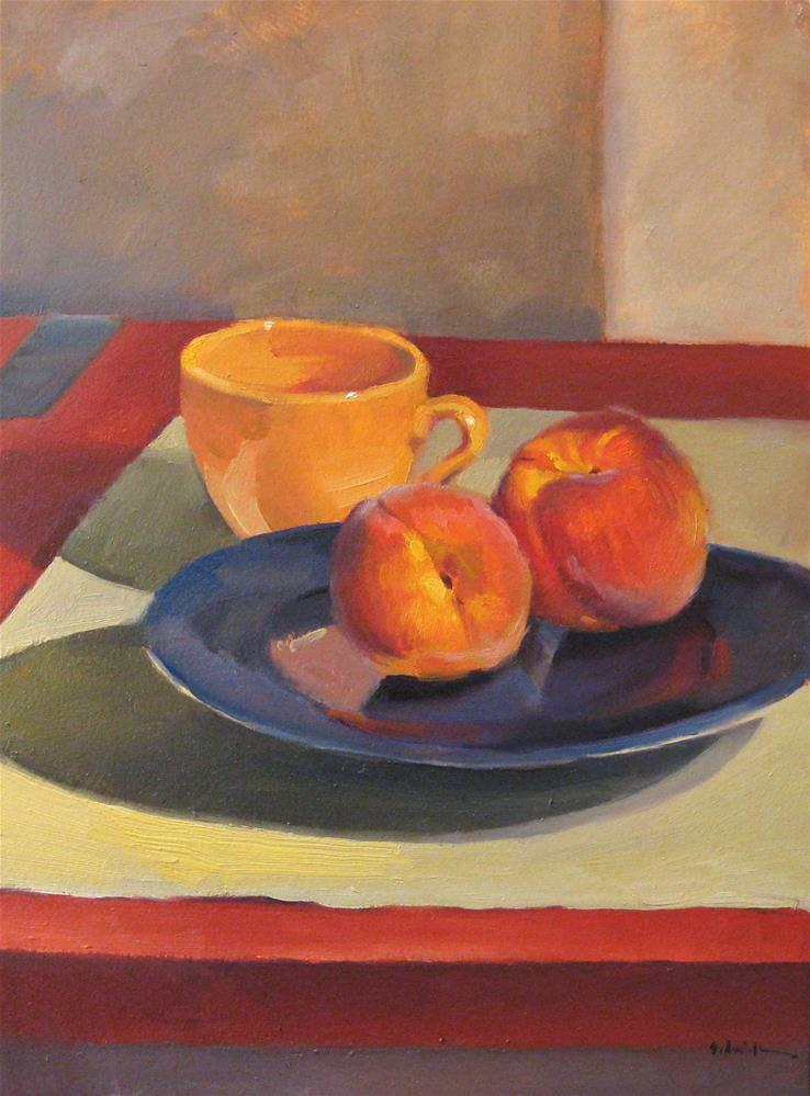 """Composition with Peaches"" original fine art by Sarah Sedwick"