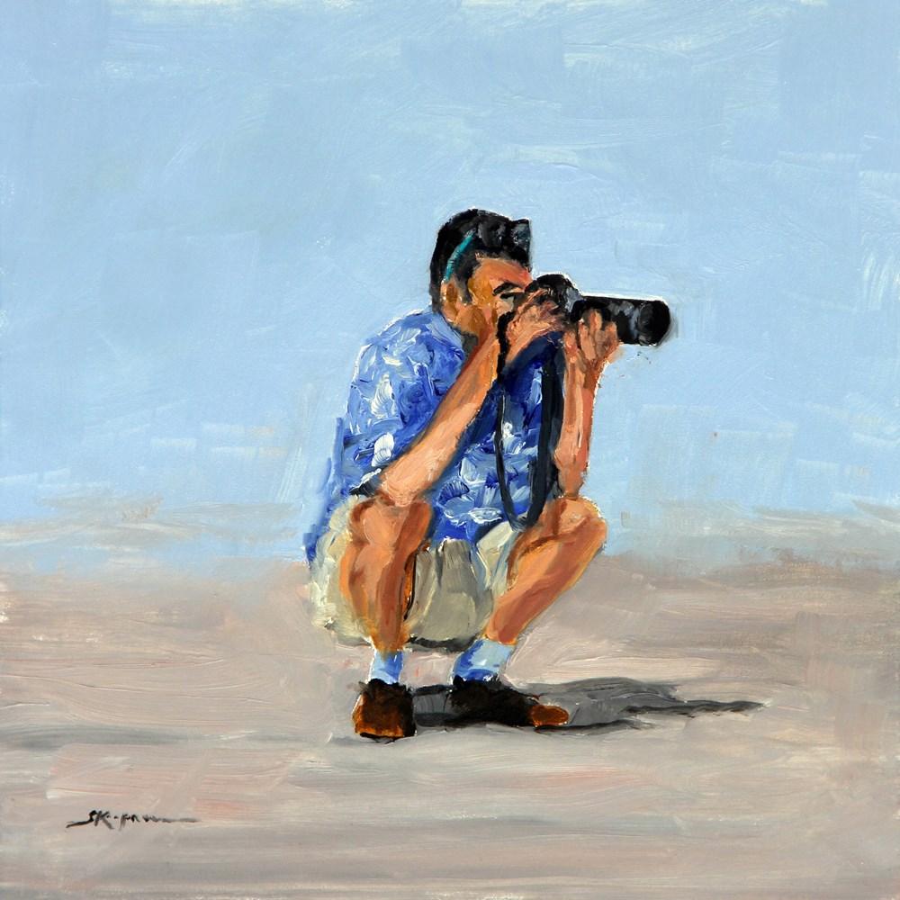 """""""Paparazzi"""" original fine art by Shelley Koopmann"""