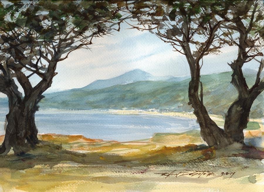 """""""Half Moon Bay Vista"""" original fine art by Rafael DeSoto Jr."""
