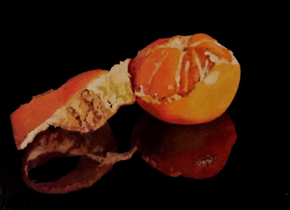 """Orange Relection"" original fine art by John Cameron"