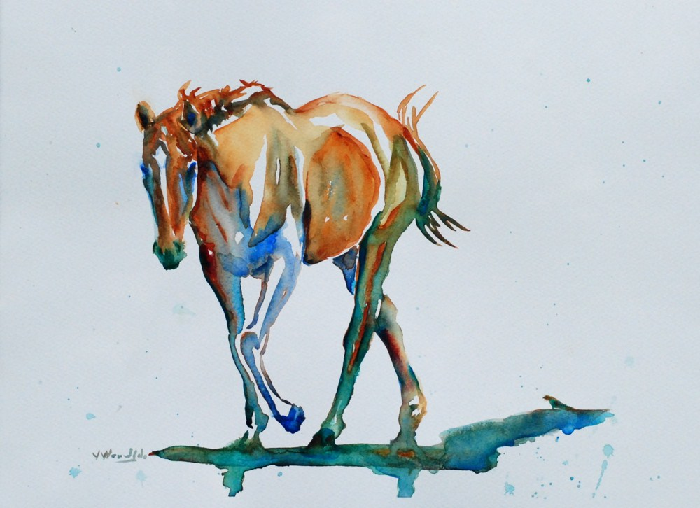 """Maggie a Thoroughbred"" original fine art by Vicki Wood"