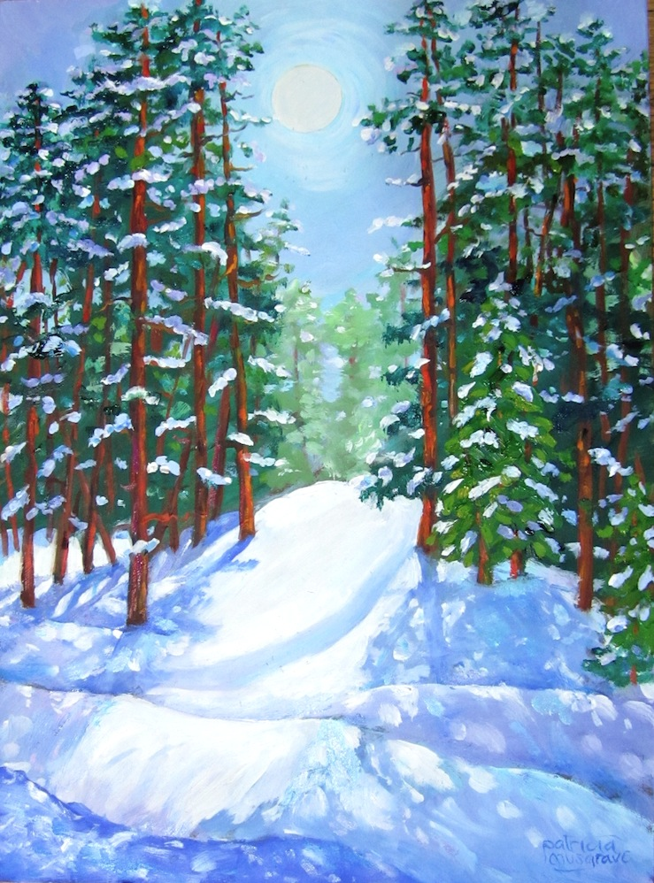 """Snowy Morning, Summit County"" original fine art by Patricia Musgrave"