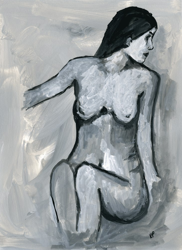 """Comfortable in her Skin"" original fine art by Kali Parsons"