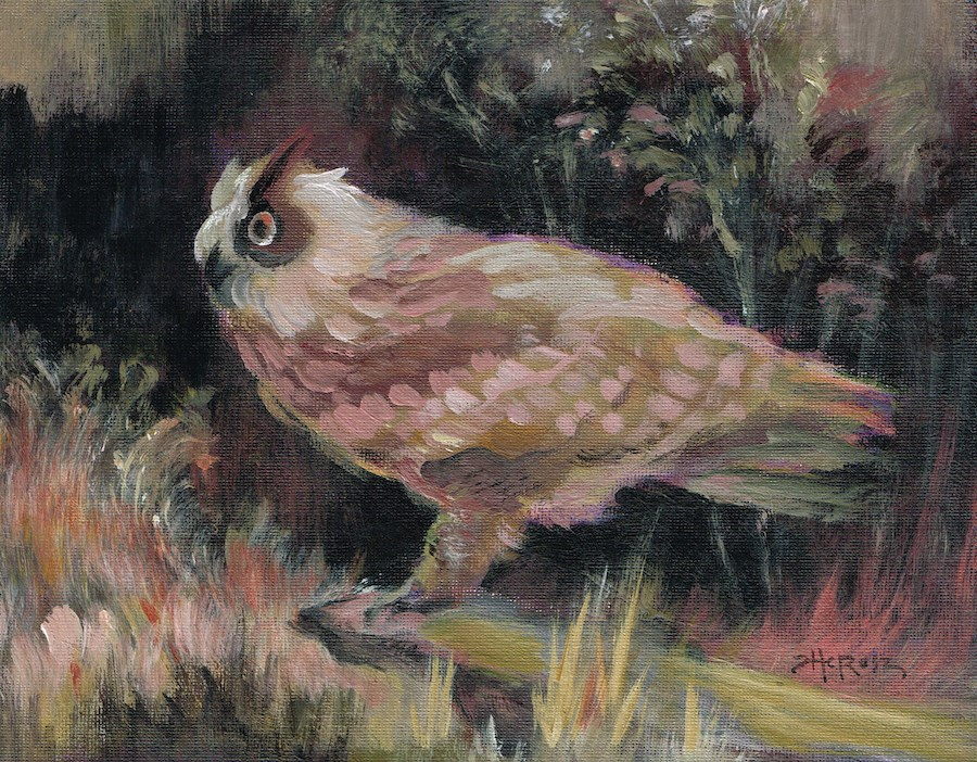 """Well Owl Be - Theresa Taylor Bayer"" original fine art by Theresa Taylor Bayer"