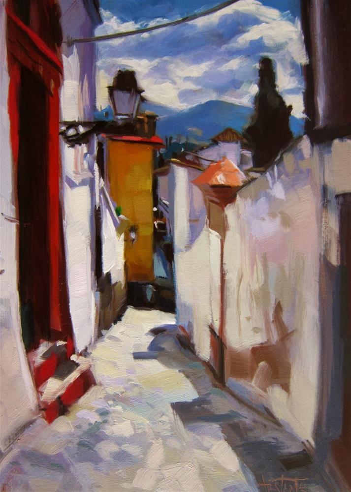 """Calle del Realejo"" original fine art by Víctor Tristante"
