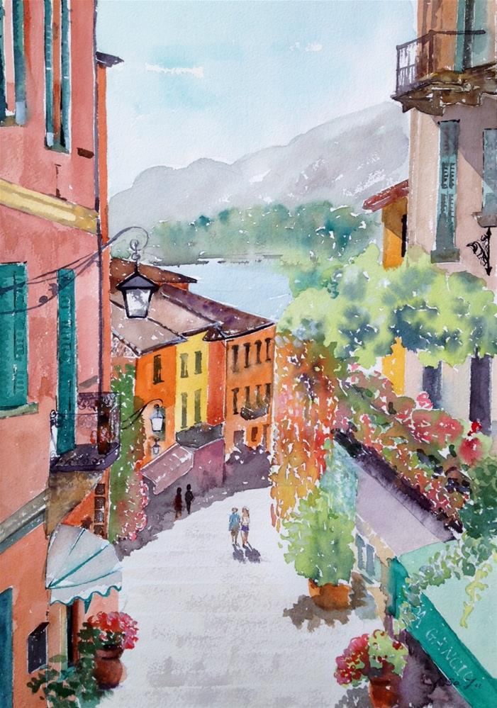 """Lake Como, Bellagio, Lombardy, italy"" original fine art by Lisa Fu"