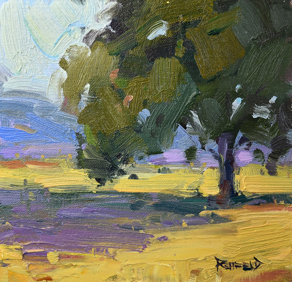 """Oak Tree at the Farm"" original fine art by Cathleen Rehfeld"