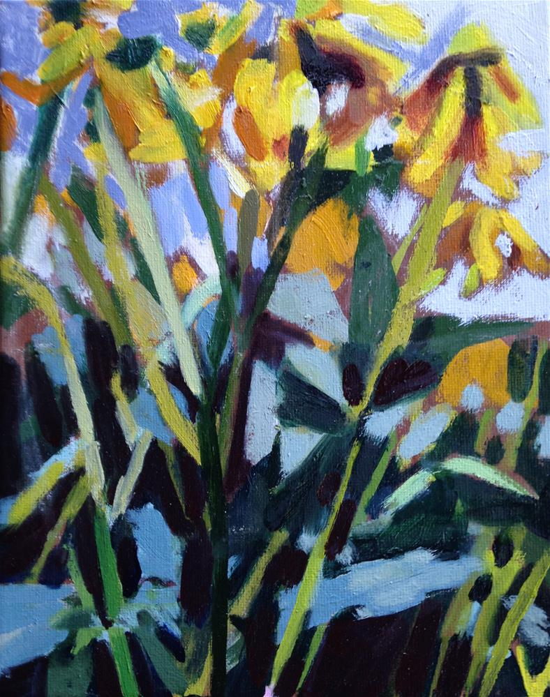 """Black-eyed Susans"" original fine art by Pamela Hoffmeister"