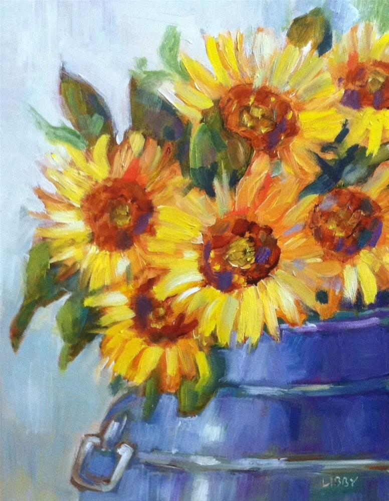 """Bucket of Sun"" original fine art by Libby Anderson"