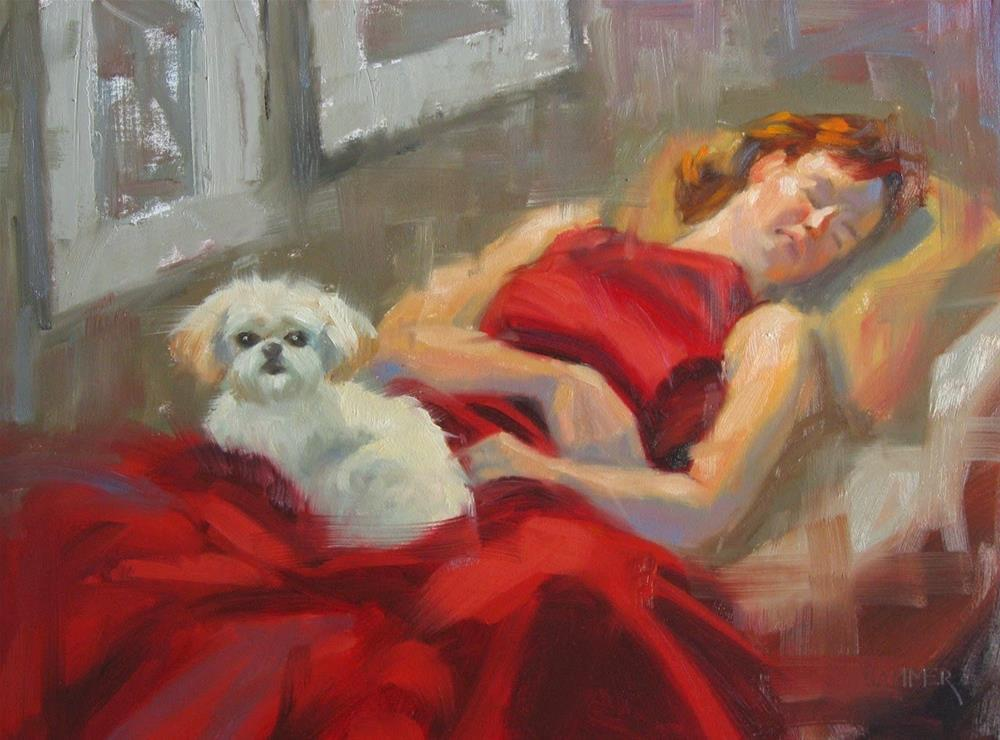 """Awake and asleep 11x14 oil"" original fine art by Claudia Hammer"