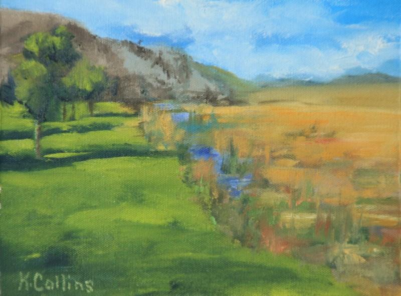 """""""Elk Refuge"""" original fine art by Kathy Collins"""