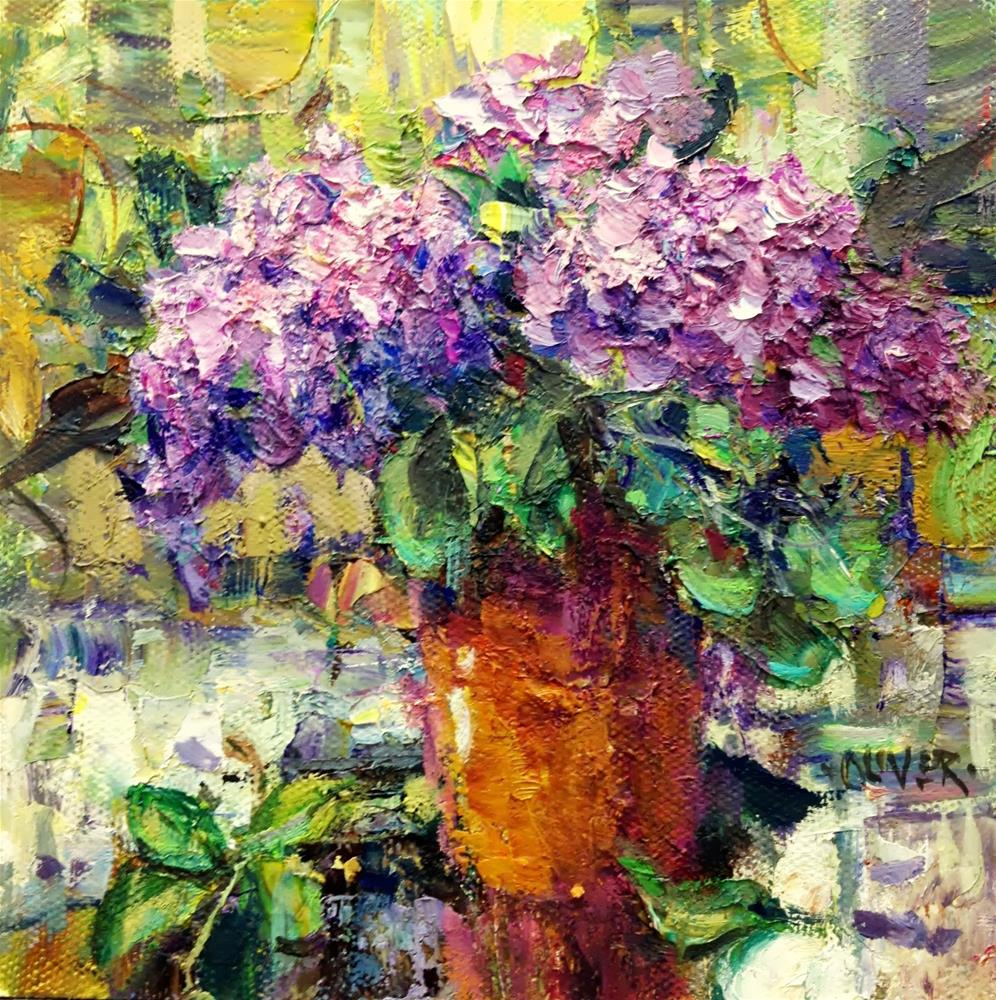 """Lilacs"" original fine art by Julie Ford Oliver"