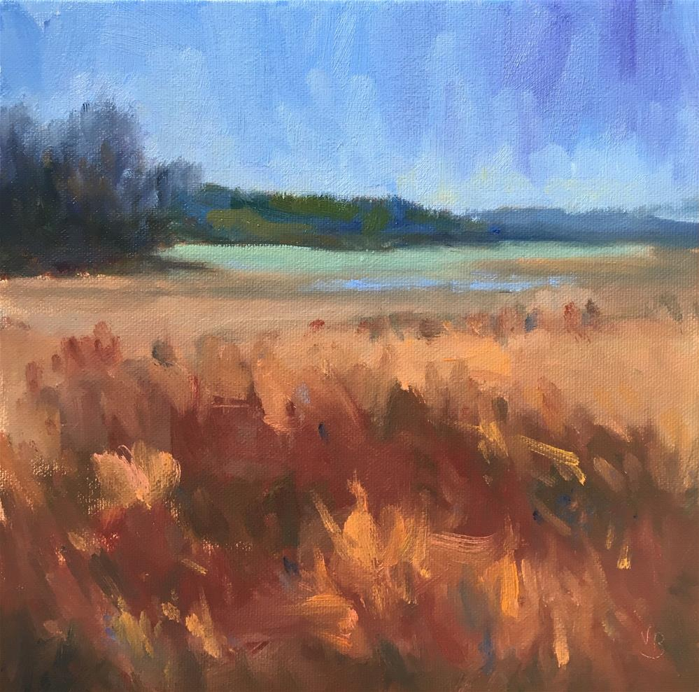 """Finley Field"" original fine art by Victoria  Biedron"