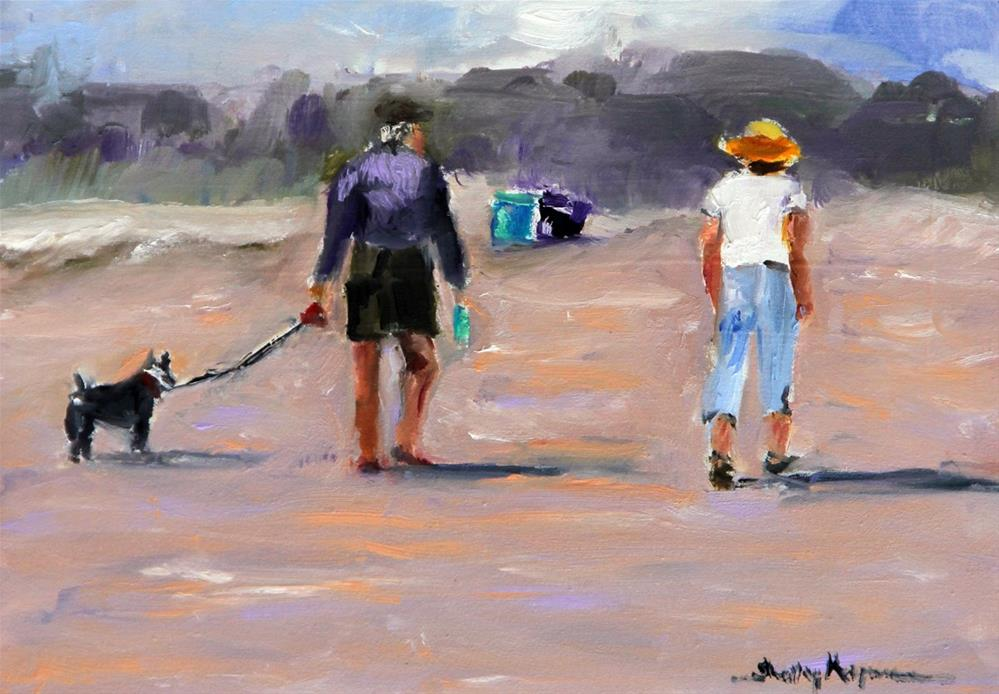 """Beach Walk"" original fine art by Shelley Koopmann"