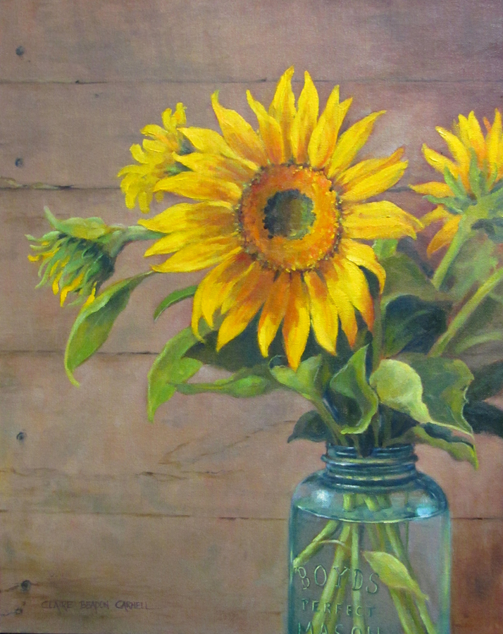 """REMEMBERING SUMMER Original Oil Painting by Claire Beadon Carnell"" original fine art by Claire Beadon Carnell"