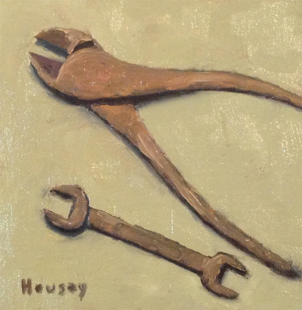 """""""Oldest Tools"""" original fine art by Bruce Housey"""