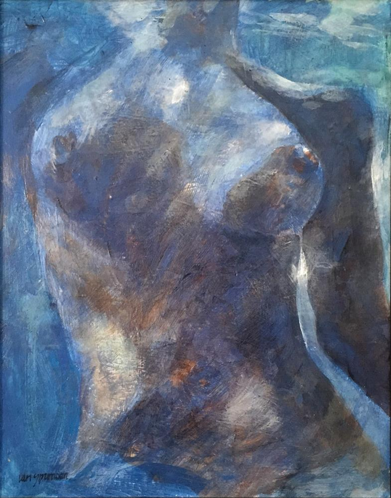 """Swimming Nude"" original fine art by Cornelis vanSpronsen"