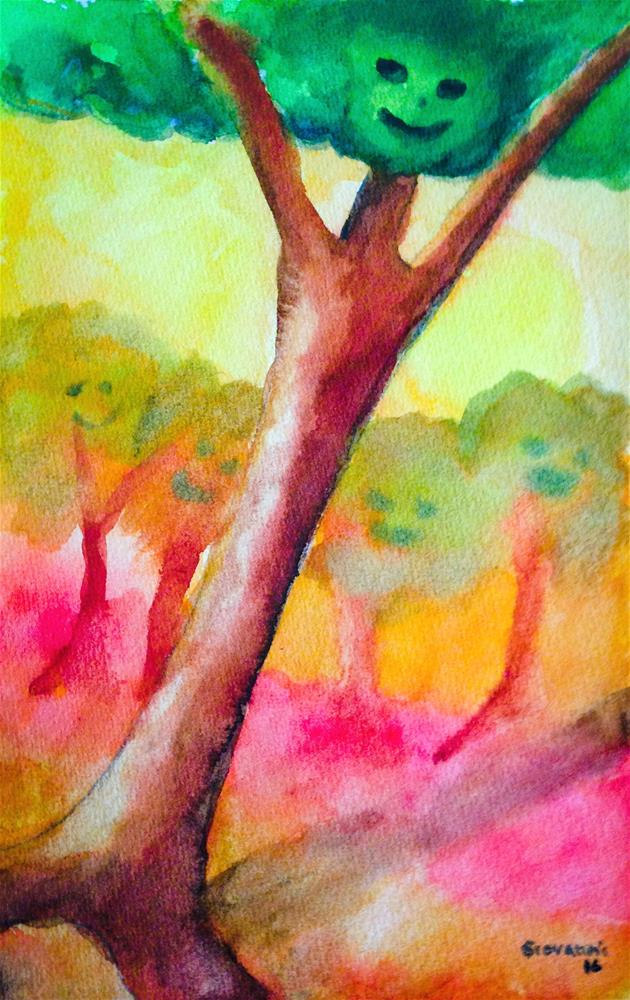 """Trees that look as people"" original fine art by Giovanni Antunez"