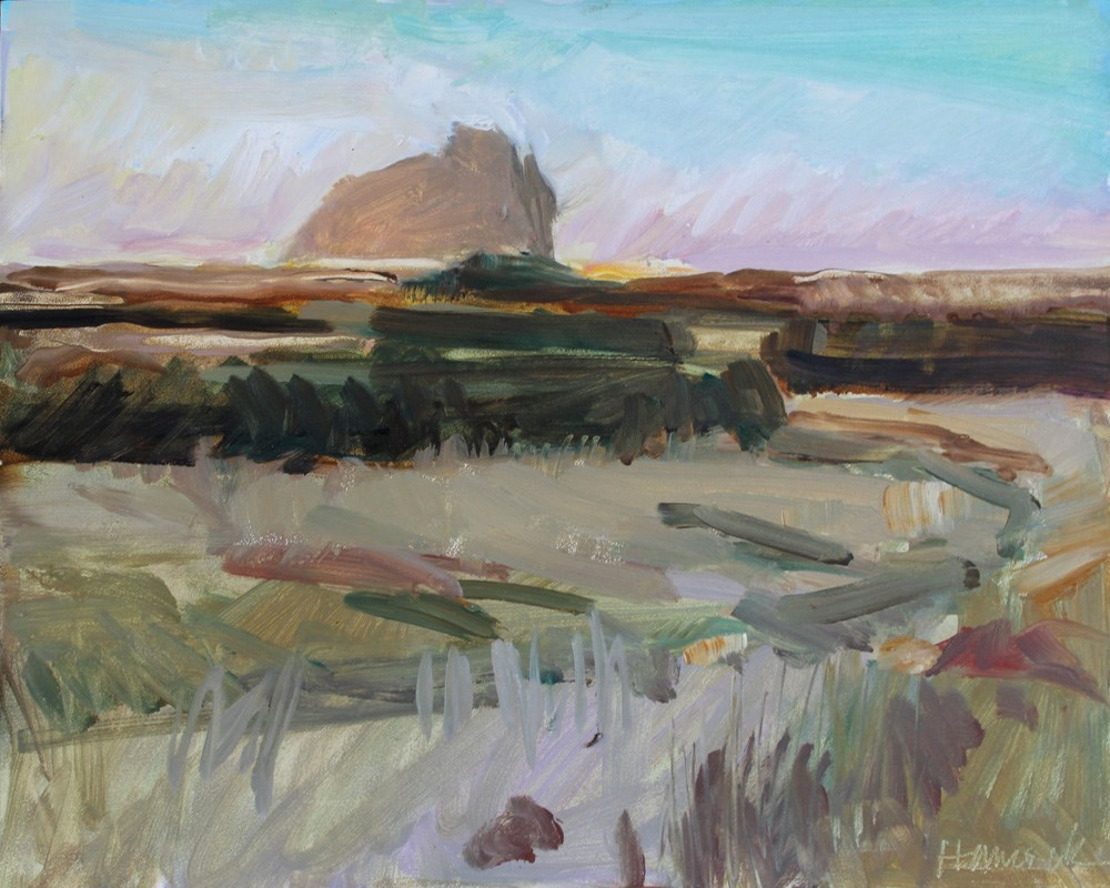 """Castle Rock, Cape Blanco"" original fine art by Gretchen Hancock"