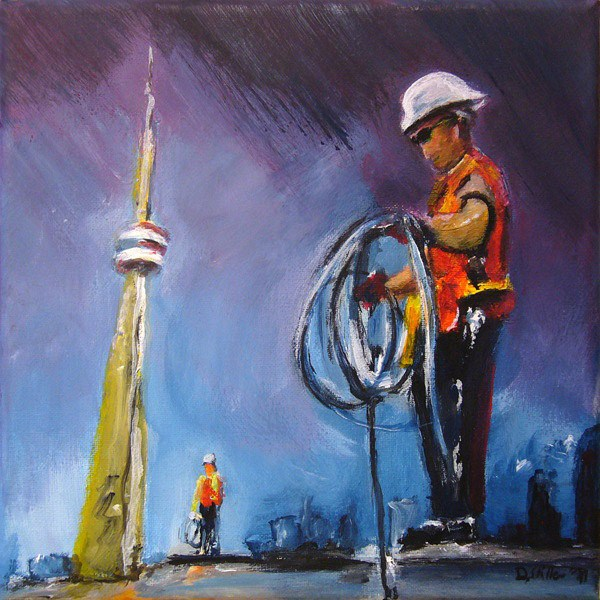 """0035 Lightning Rod - Blitzableiter"" original fine art by Dietmar Stiller"