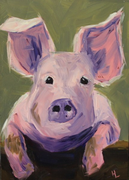 """Pretty in Pink"" original fine art by Heather Lehmberg"