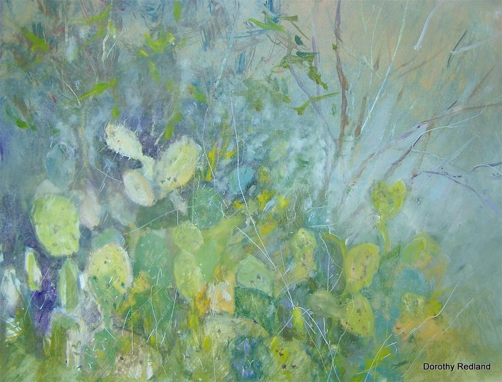 """Prickly pear"" original fine art by Dorothy Redland"