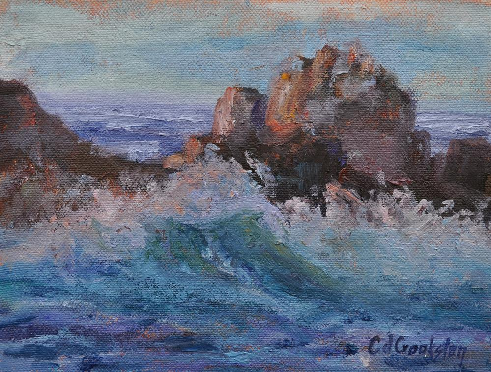 """Ocean Waves"" original fine art by Catherine Crookston"