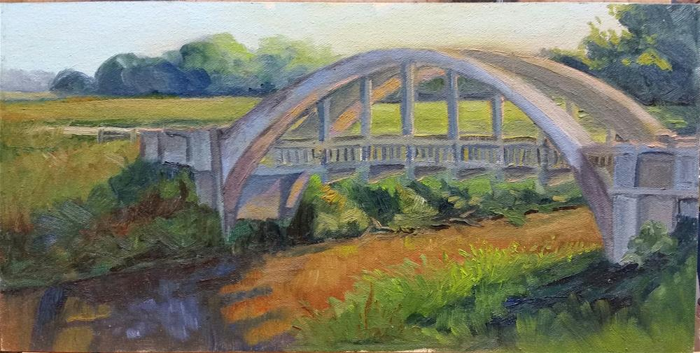 """Marion Bridge-en plein air"" original fine art by Veronica Brown"