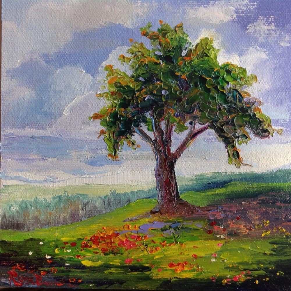 """The Mighty Oak Tree"" original fine art by Rose Brenner"