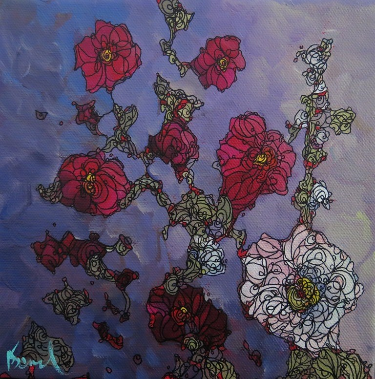 """119 RHAPSODY"" original fine art by Dee Sanchez"