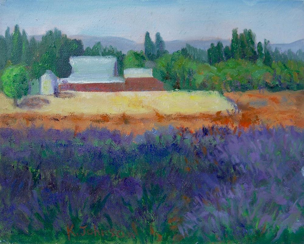 """Lavender Field & Farm"" original fine art by Kathy Johnson"