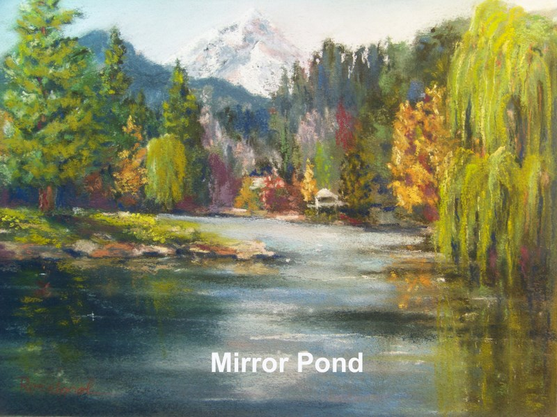 """Mirror Pond"" original fine art by Norm Rossignol"