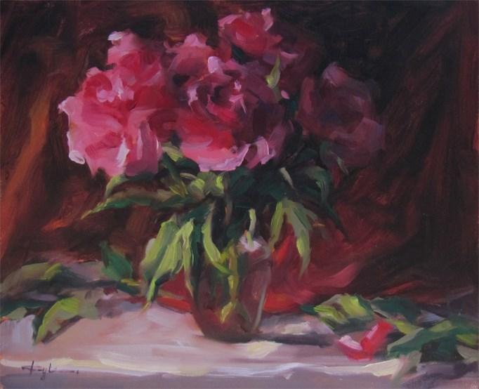 """Peonies"" original fine art by Katia Kyte"