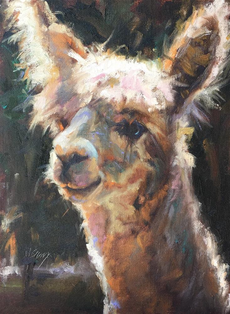 """Alpaca III"" original fine art by Jenny Buckner"
