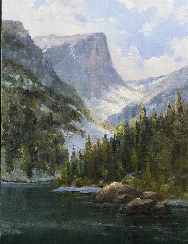 """Dream Lake"" original fine art by Bonnie Bowne"