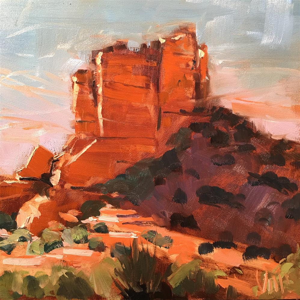 """#311 Sedona Red Rock"" original fine art by Patty Voje"