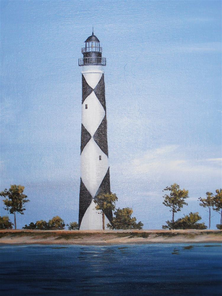 """Cape Lookout Lighthouse"" original fine art by Terri Nicholson"