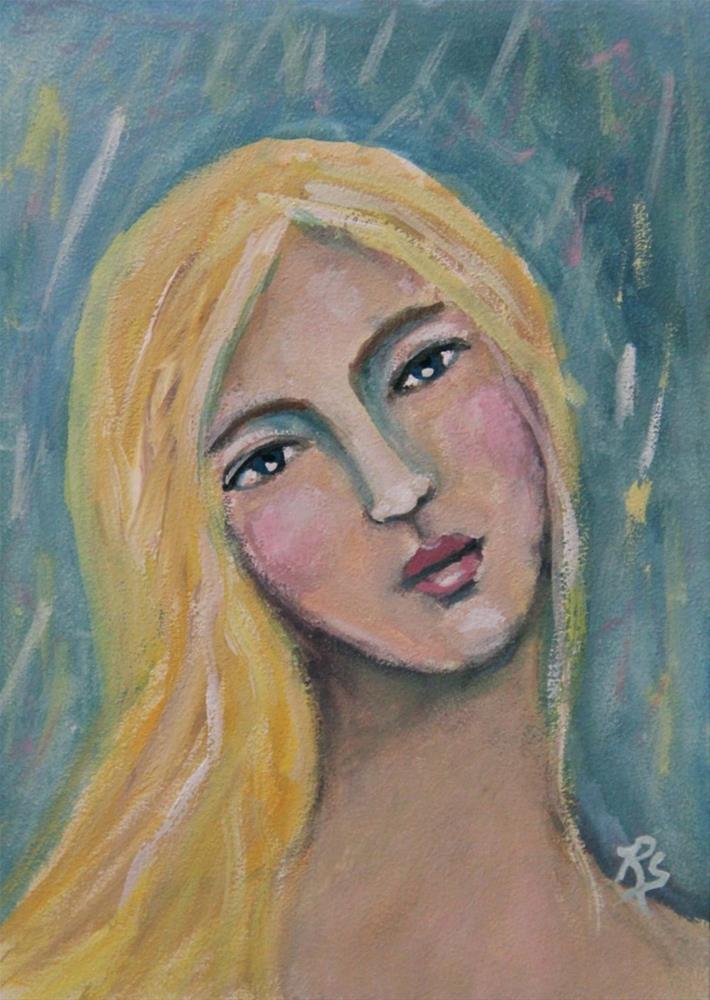 """""""Madeleine"""" original fine art by Roberta Schmidt"""