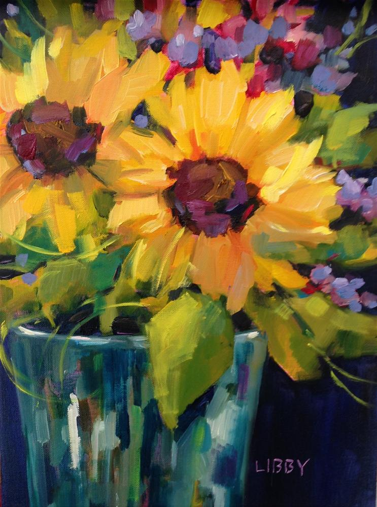 """Sunflower Weekend"" original fine art by Libby Anderson"