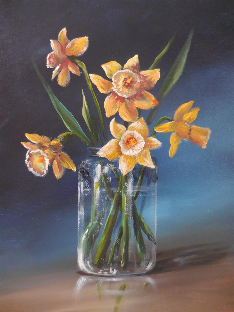 """""""Daffodils"""" original fine art by Terri Nicholson"""