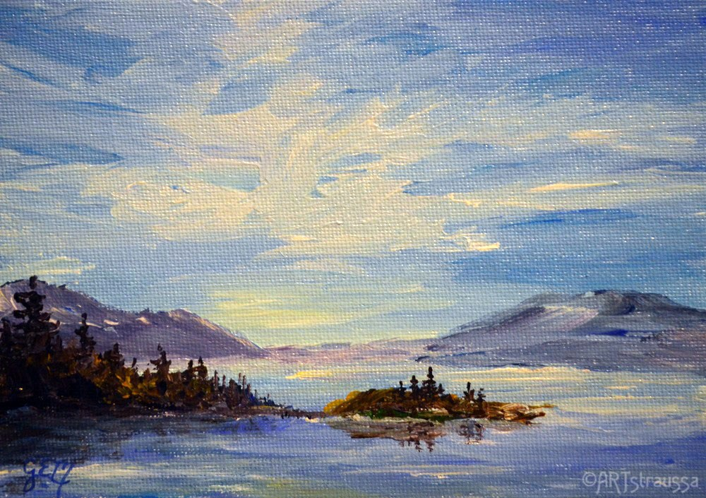 """SaltSpring Island"" original fine art by Gloria Ester"