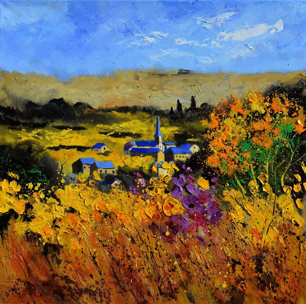 """Houroy in autumn 77"" original fine art by Pol Ledent"
