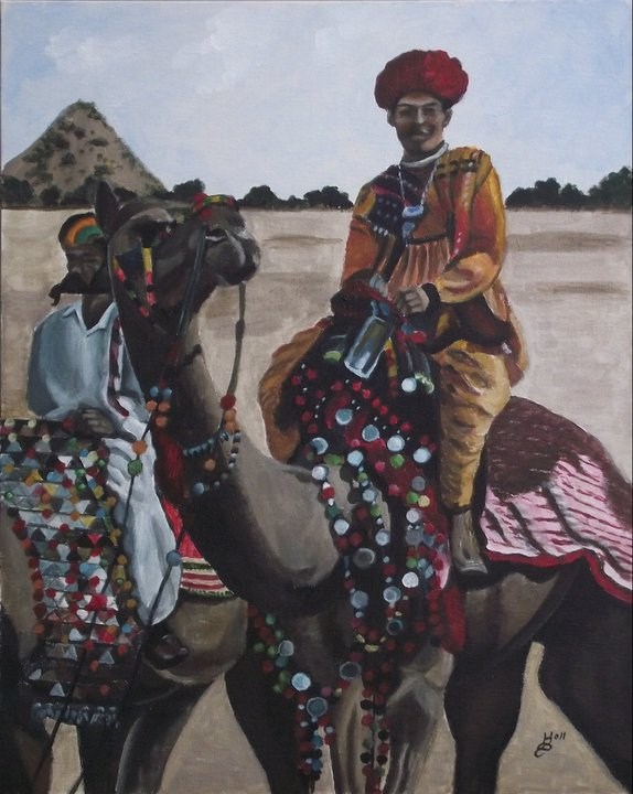 """Camel Fair"" original fine art by Kim Selig"