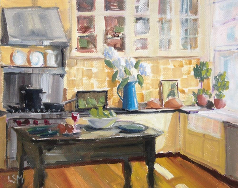 """Kitchen a Glow"" original fine art by Linda Marino"