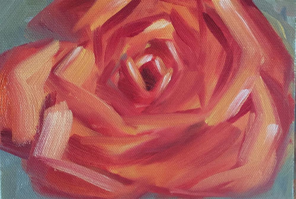 """""""terracotta rose"""" original fine art by Bobbie Cook"""