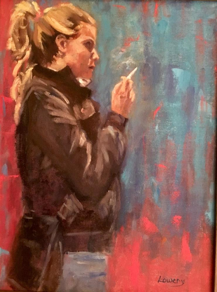 """Smoke Break"" original fine art by Wanda Lowery"