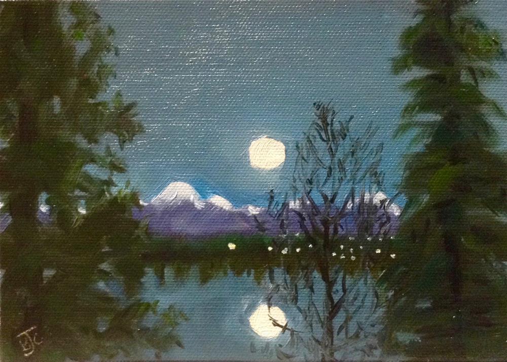 """Full Moon Rising"" original fine art by Bobbie Cook"